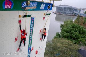 Womens' Speed Climbing World Cup Wujiang, China 2018