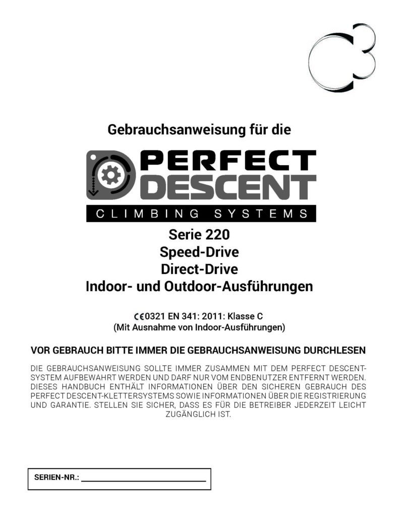 Perfect-Descent-Operations-Manual-Indoor-Outdoor-220-Series-Rev-12-2018-German-Cover