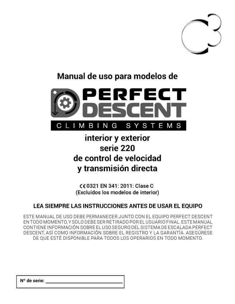 ES Perfect Descent Operations Manual-220 Series-Rev 12-2018 Cover