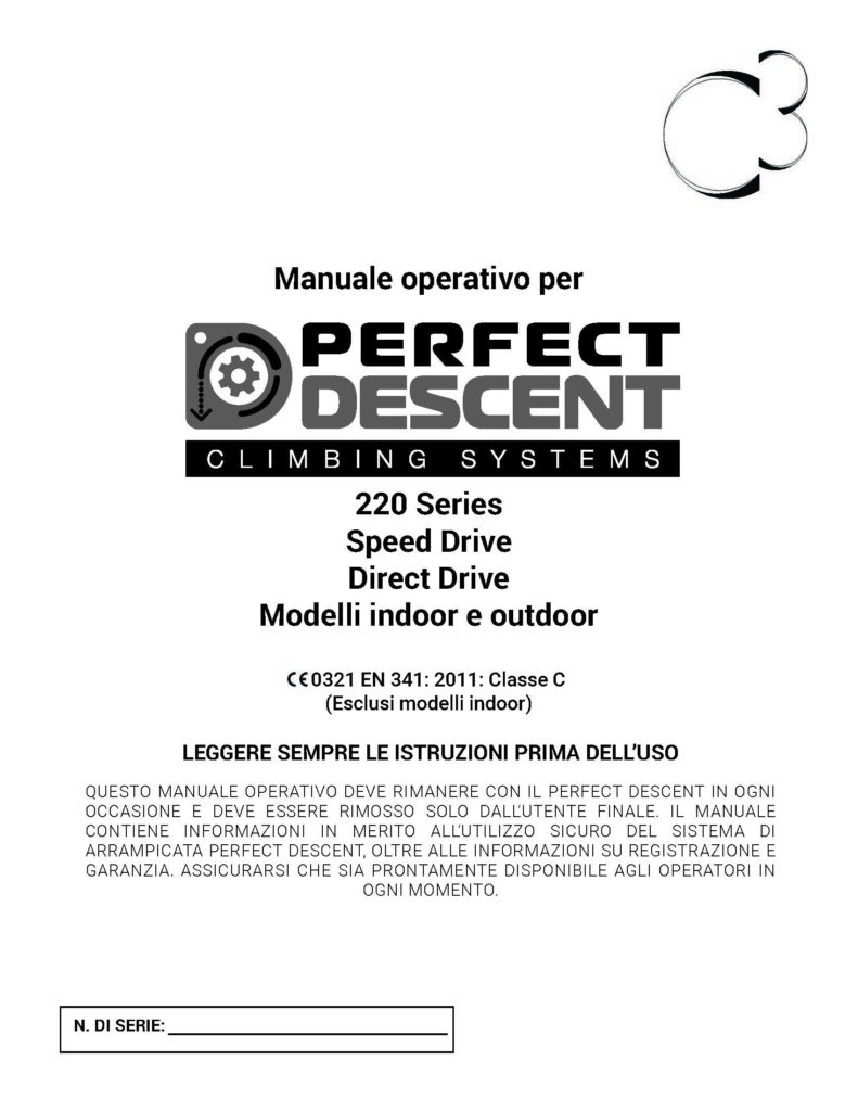 IT Perfect Descent Operations Manual-220 Series-Rev 12-2018 Cover Image